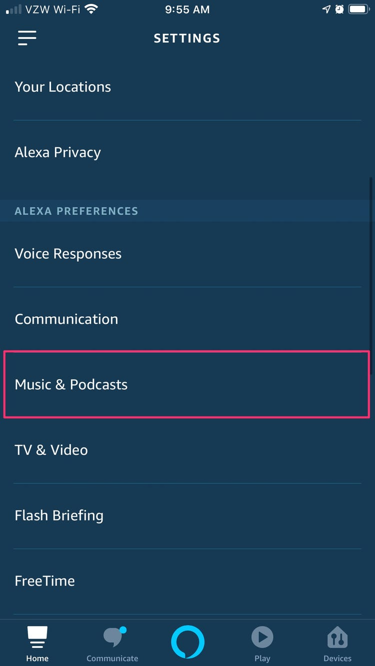 Spotify not available on alexa