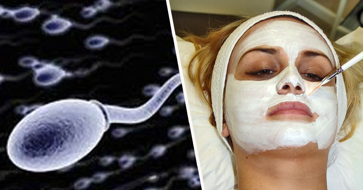 Semen on face therapy