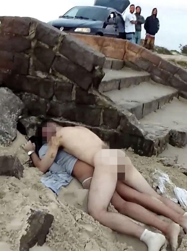 Passed out nude in public