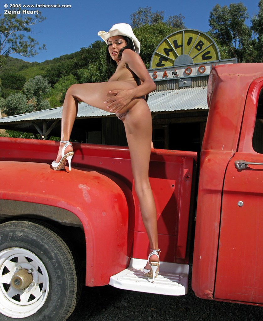 Naked chick in truck